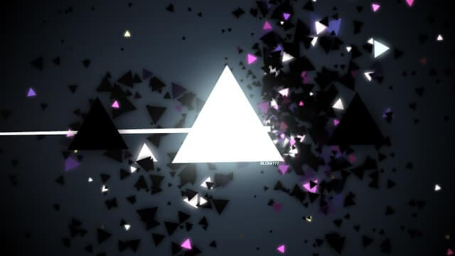 Winning 1kb intro at Assembly 2015, BLCK4777 is a JavaScript explosion of light and triangles in 1023 bytes