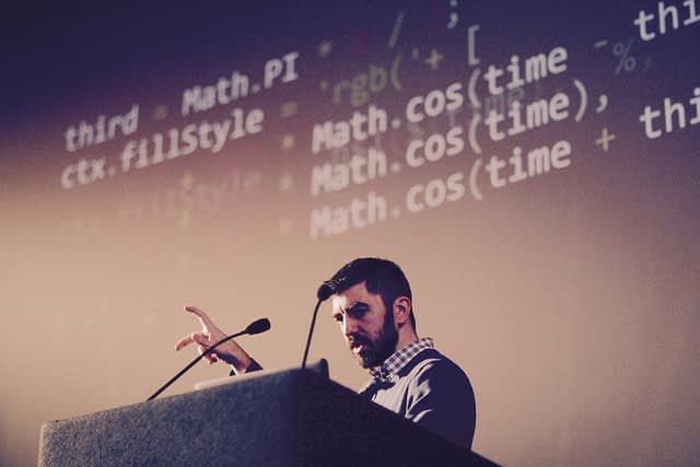 ART×JS was the closing talk at FFconf 2016. The goal was to bring new developer artists to the web by abusing standards and developing a visual understanding of mathematics.
